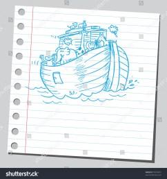 sketchy illustration of a noah s ark  [ 1500 x 1600 Pixel ]