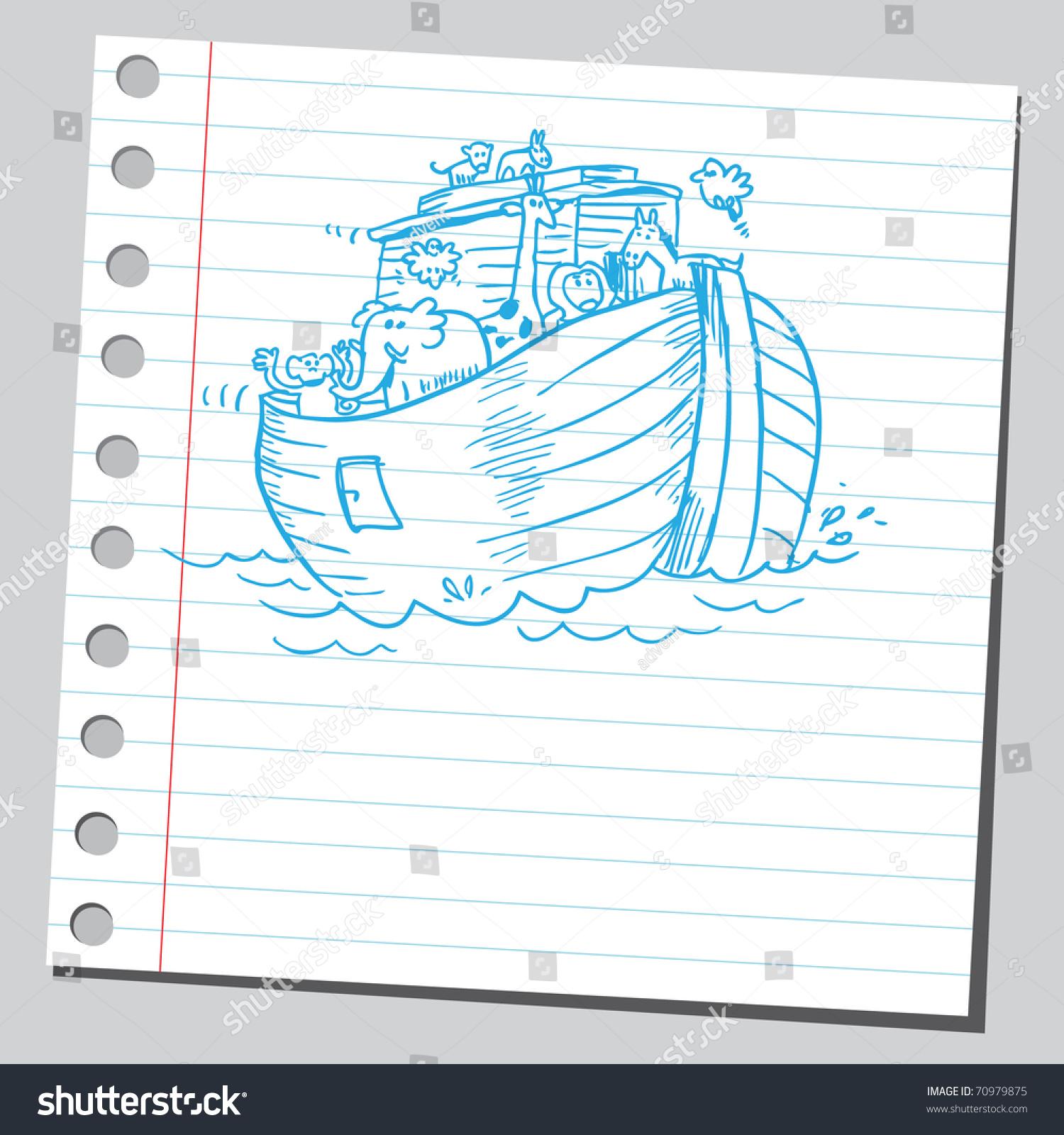 hight resolution of sketchy illustration of a noah s ark