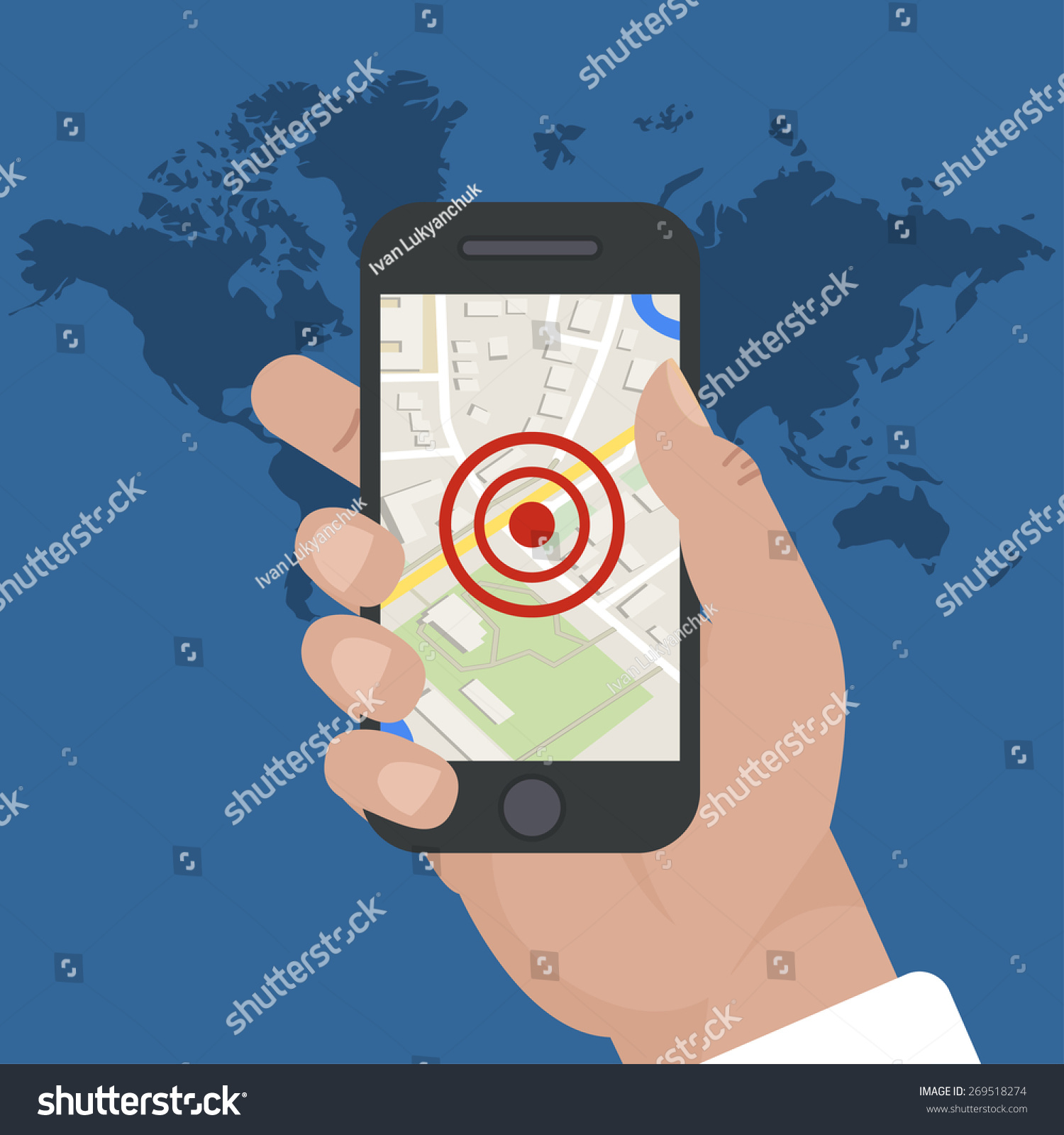 Smart Phone Navigation  Mobile Gps And Tracking Concept