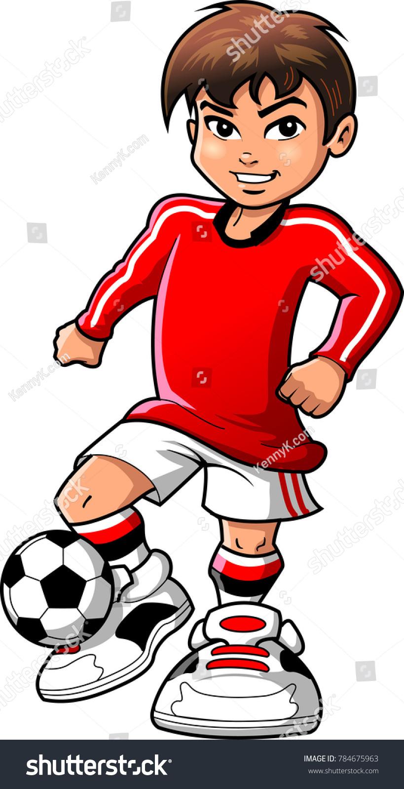 hight resolution of soccer football player teen boy sports vector clipart cartoon