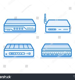 soho network router icon set network equipment for small business data network hardware series [ 1500 x 1225 Pixel ]