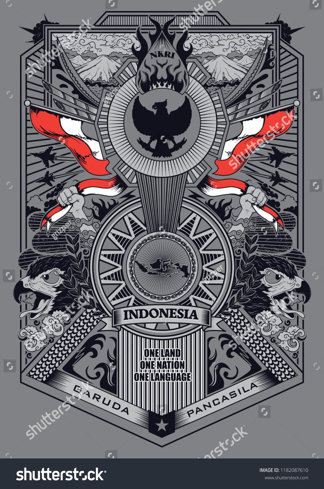 Garuda Vector Art : garuda, vector, Spirit, Garuda, Pancasila, Illustration, Stock, Vector, (Royalty, Free), 1182087610
