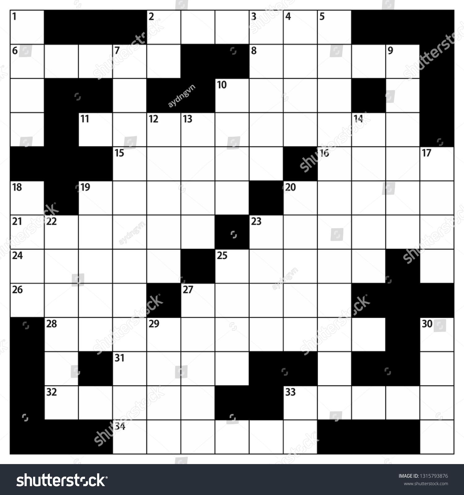 Empty Crossword Puzzle Grid