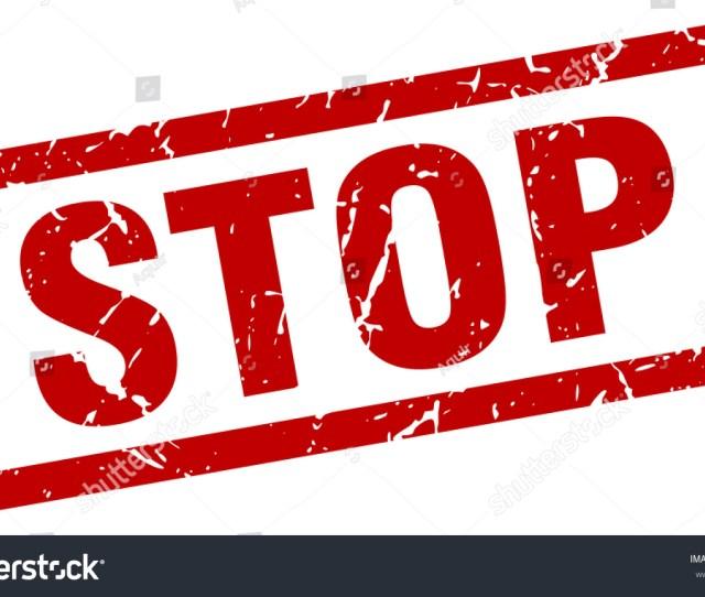 Square Grunge Red Stop Stamp