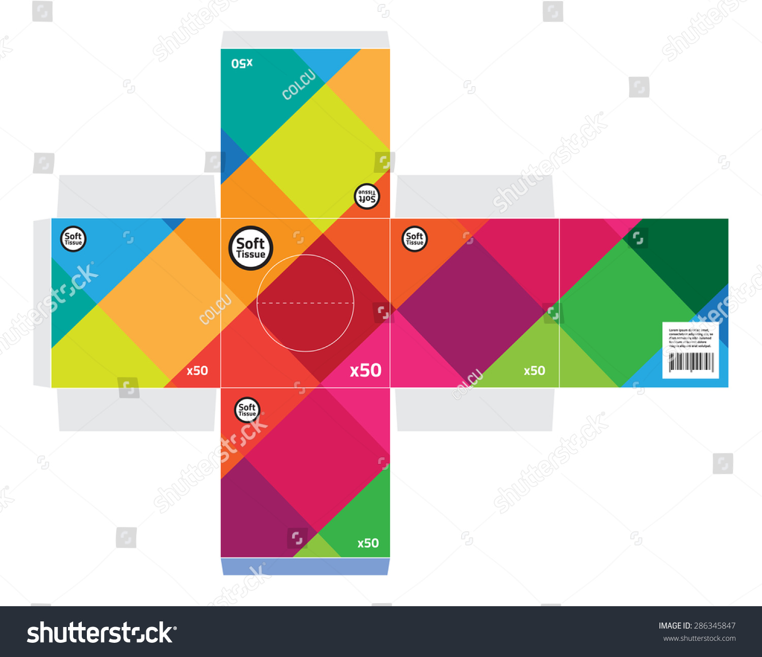 hight resolution of square tissue box vector standard size
