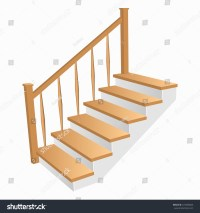 Staircase 3d Icon Wooden Steps Home Stock Vector 472490845 ...