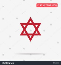 Star Of David Icon. Vector Concept Illustration Design