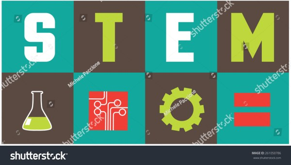 Stem Icons Flat Design Eps10 Vector Stock 261050786