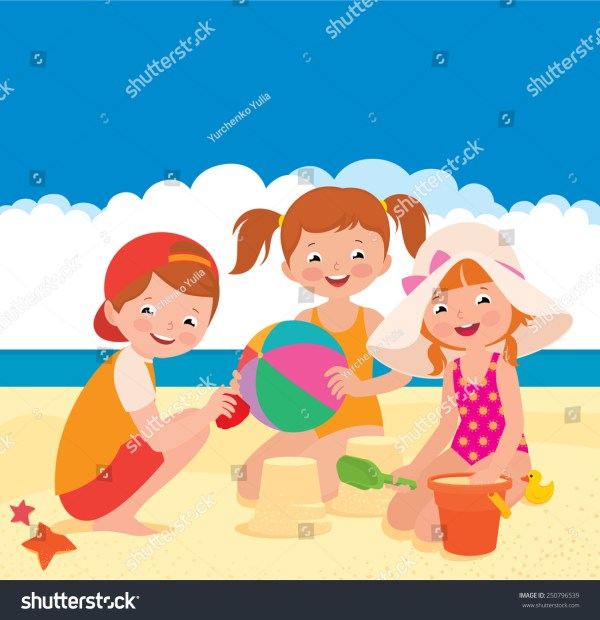 Stock Vector Cartoon Illustration Three Friends Stock