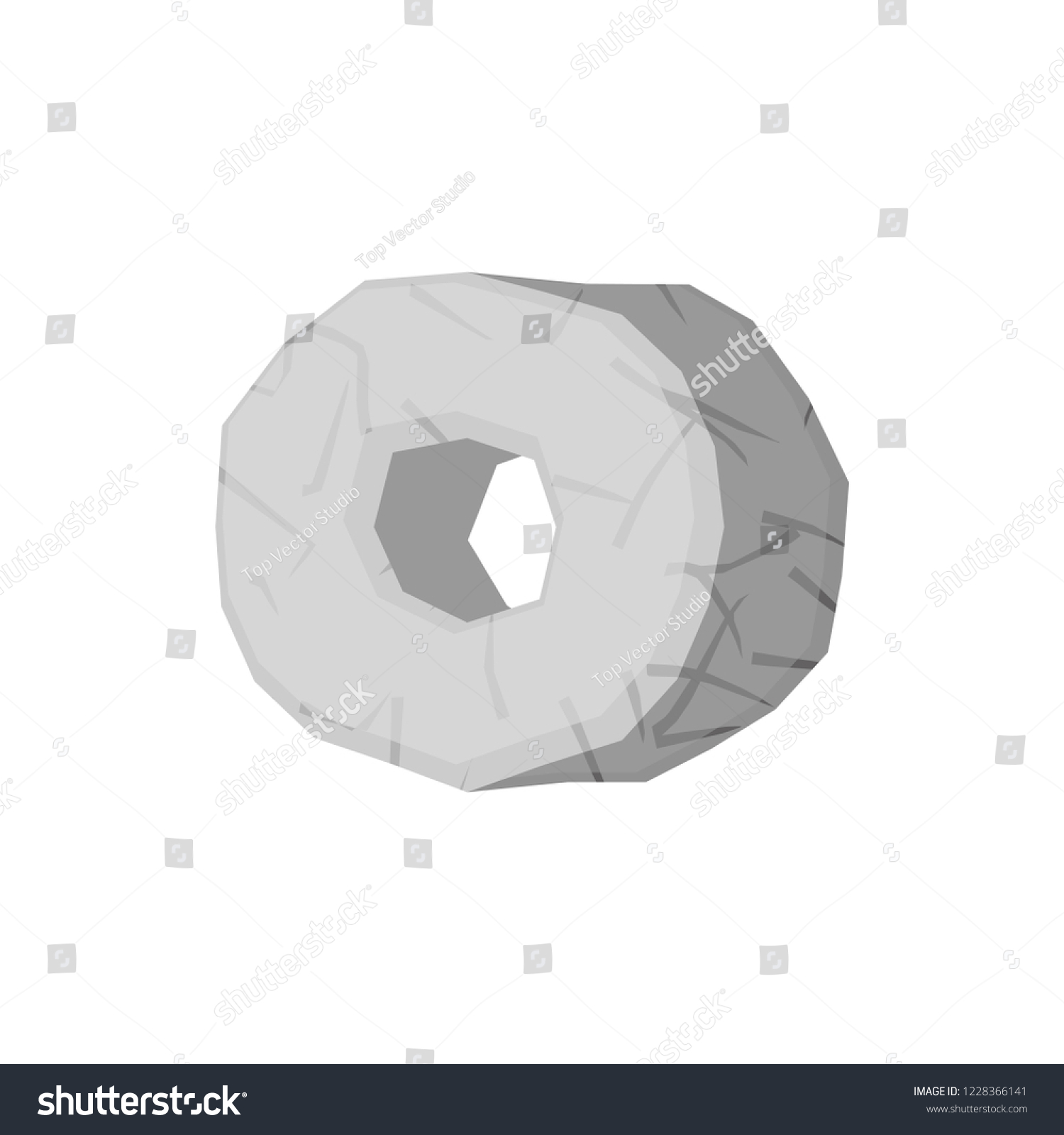 hight resolution of stone wheel isolated prehistoric truck stone age technology