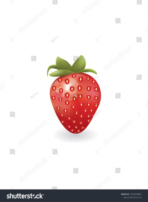 small resolution of strawberry on white background vector
