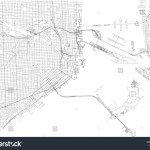 Vector De Stock Libre De Regalias Sobre Streets Miami City Map Florida United764623381