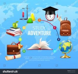 Study Learning Concept School University Symbols Stock Vector Royalty Free 701024245