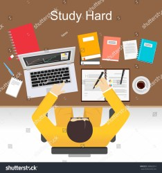 Study Hard Concept Illustration Flat Design Stock Vector Royalty Free 308062814