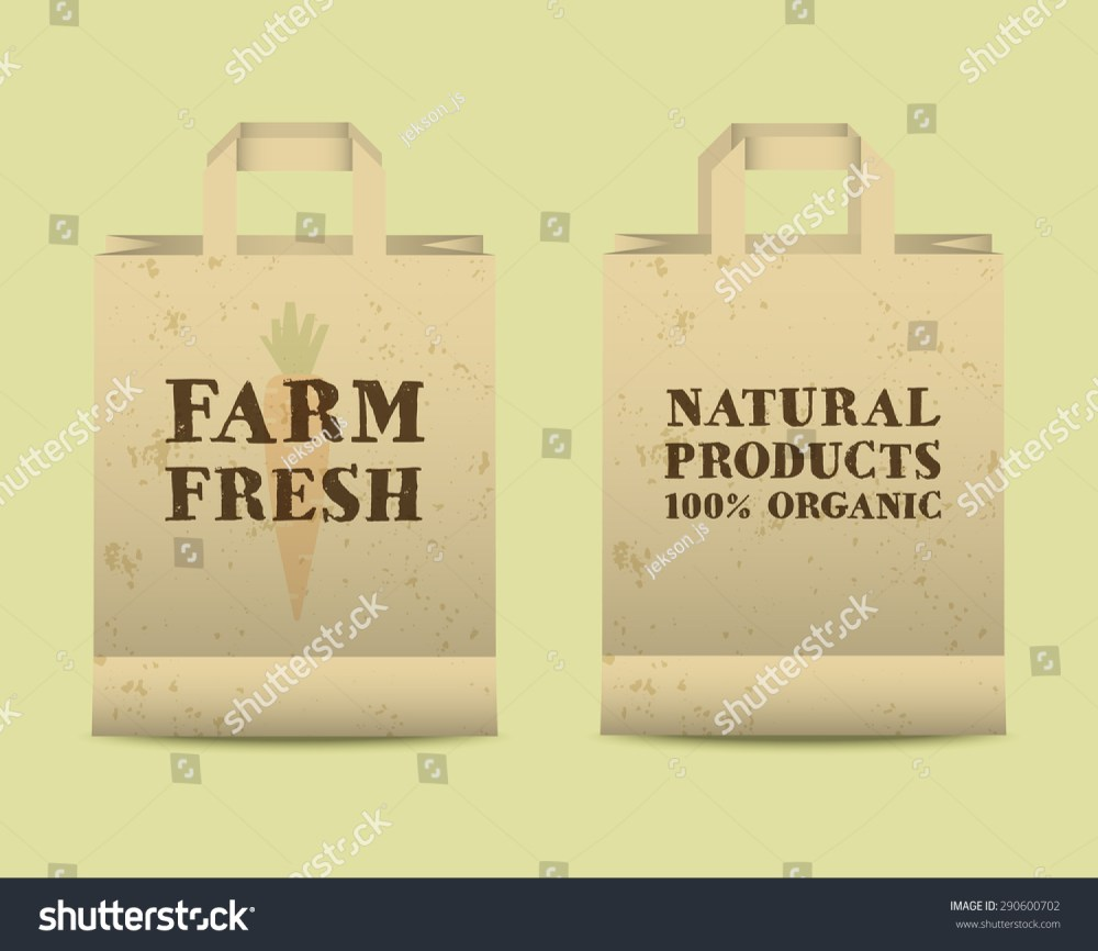 medium resolution of stylish farm fresh paper bags template mock up design with shadow vintage colors best for natural shop organic fairs eco markets and local companies