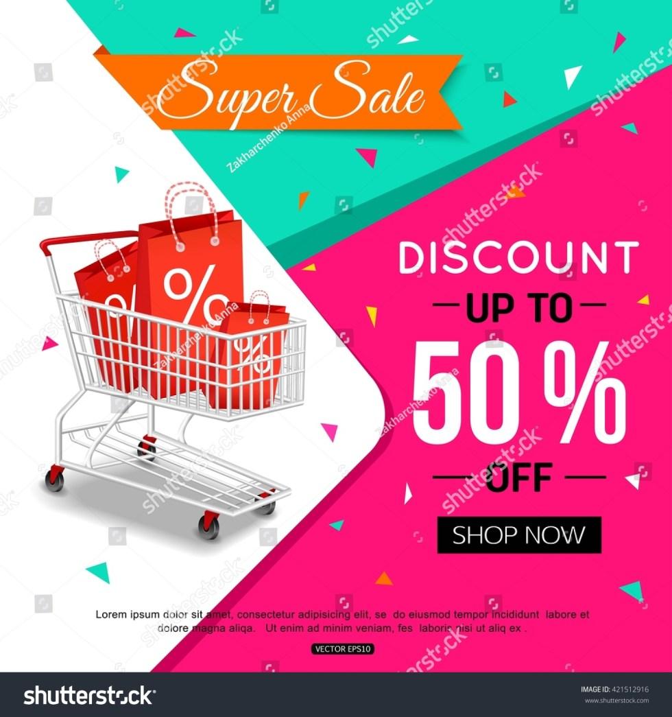 Super Sale Banner Design Shop Online Stock Vector ...
