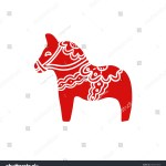 Swedish Christmas Decoration Flat Style Vector Stock Vector Royalty Free 1565971699