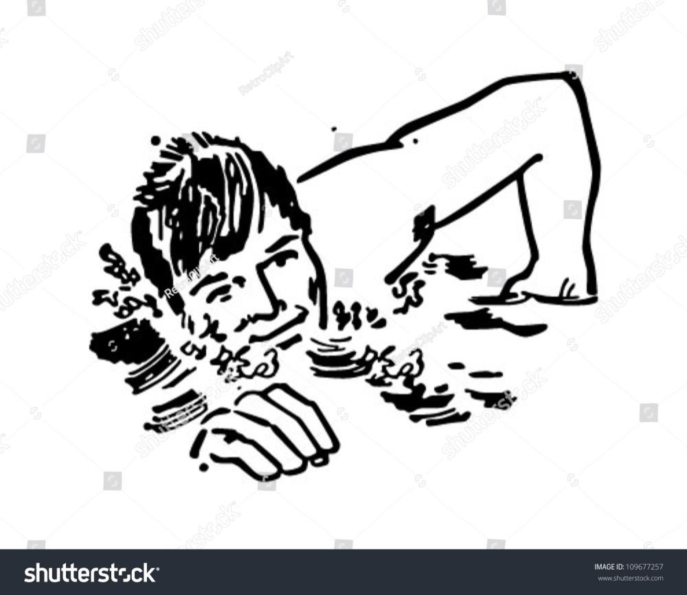 medium resolution of swimmer retro clipart illustration