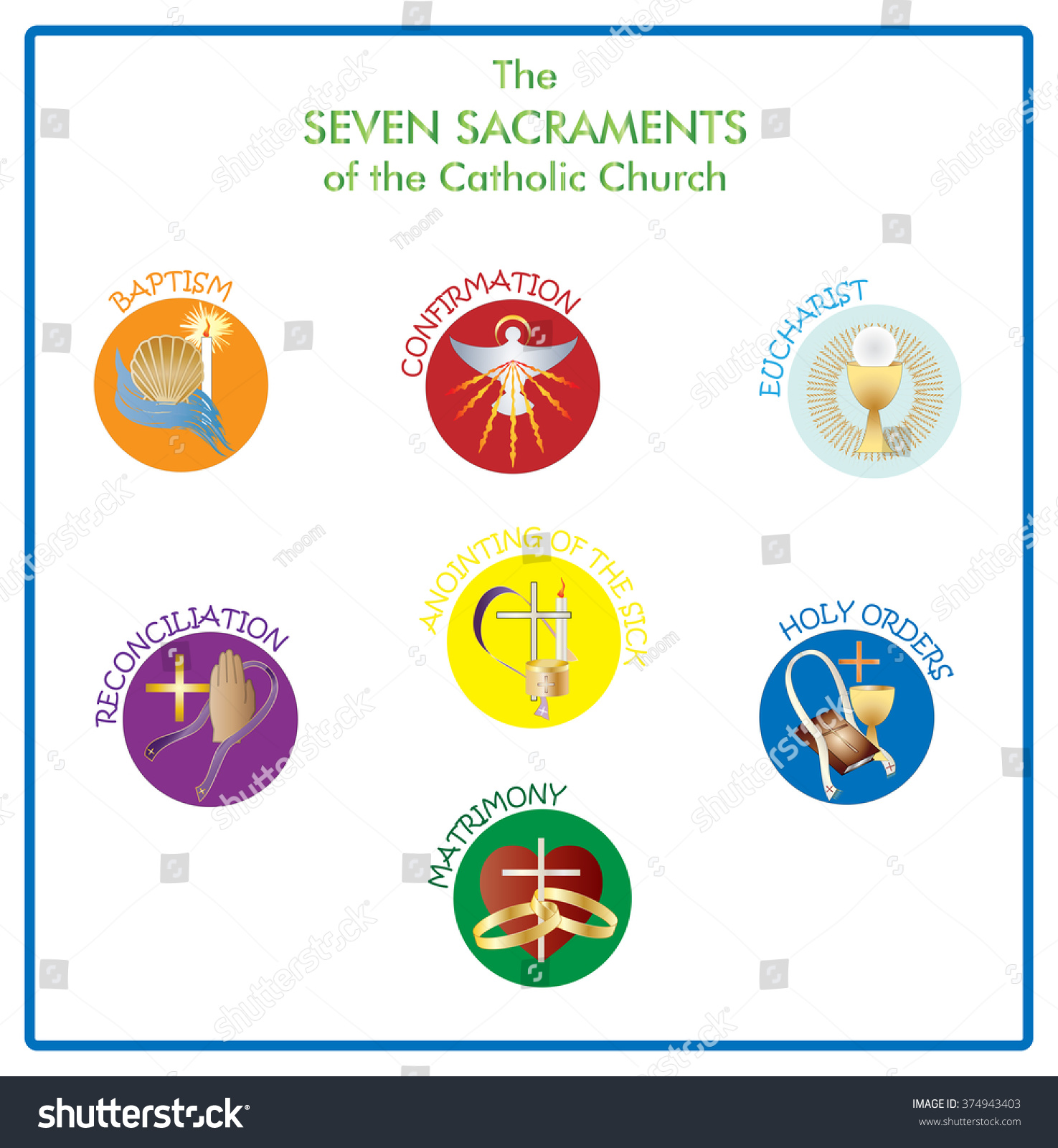 Symbols Of The Seven Sacraments Of The Catholic Church