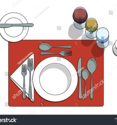 table setting diagram with eating utensils cups placemat [ 1500 x 1210 Pixel ]