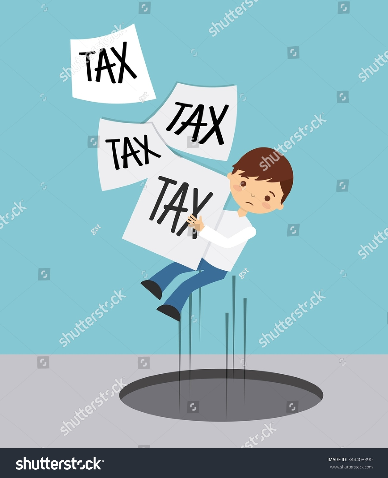 Tax Liability Design, Vector Illustration Eps10 Graphic - 344408390 : Shutterstock