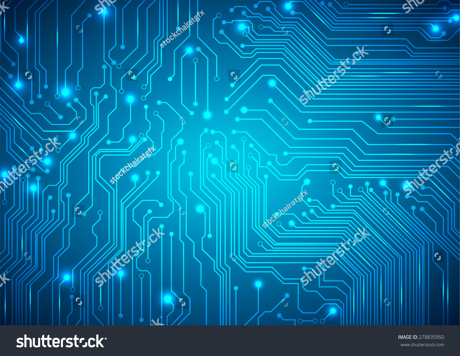 Technological Vector Background Circuit Board Texture