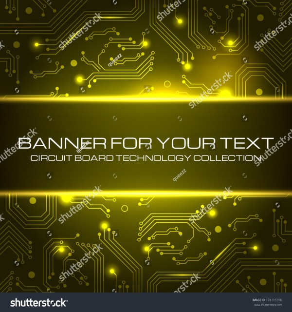 Technology Banner Space Text Vector Stock