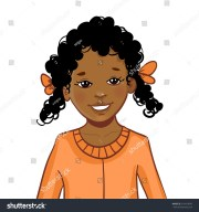 teenager cartoon african american