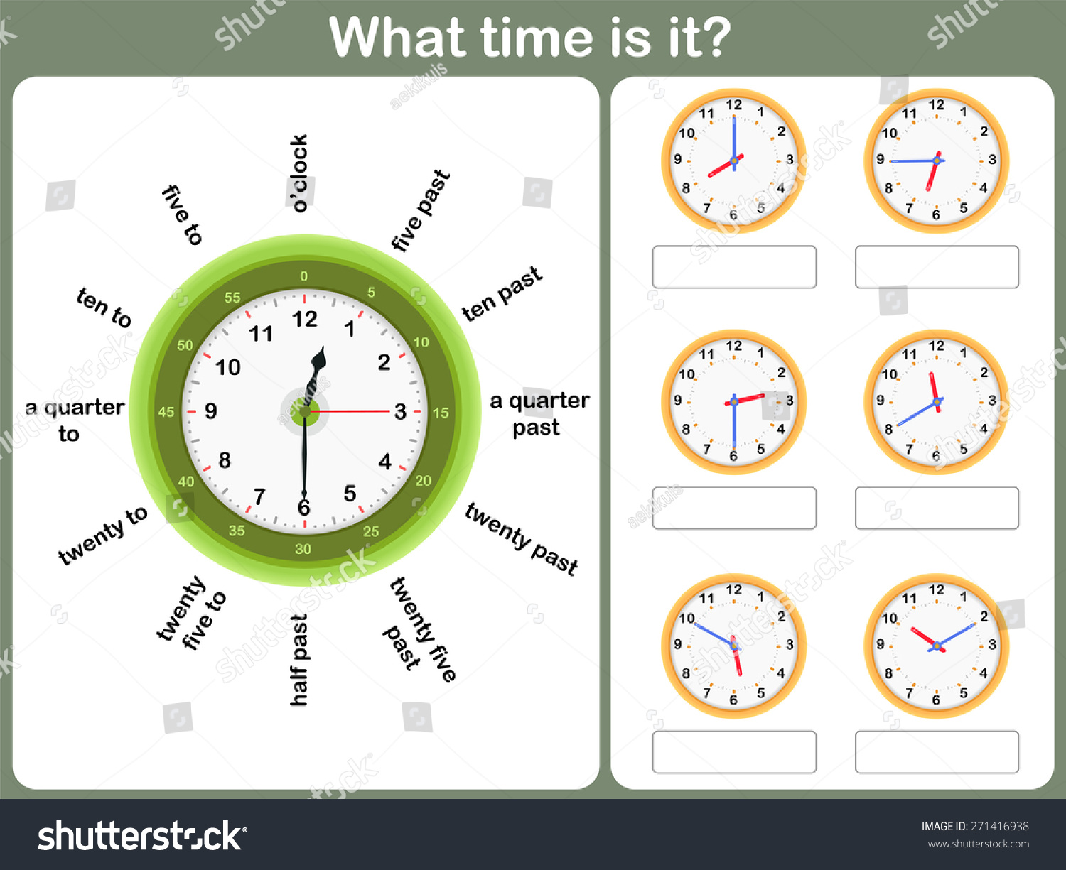 Learning To Read Time Worksheet