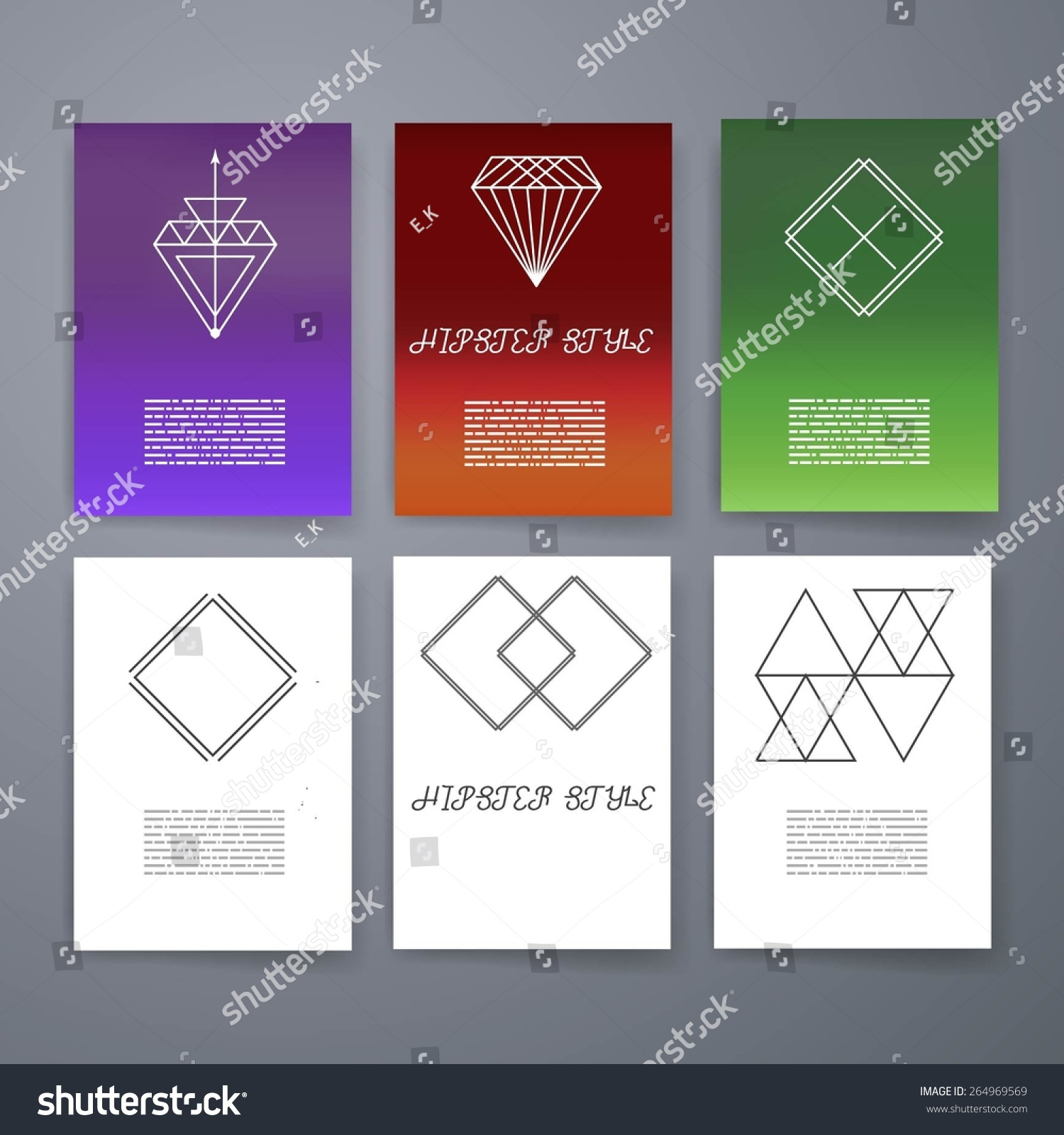 Template. Set Hipster Geometric Typography Retro Flyer , Poster. Business  Card Templates. Line