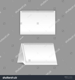 template vector mock up blank table calendar layout realistic notebook organizer  [ 1500 x 1600 Pixel ]