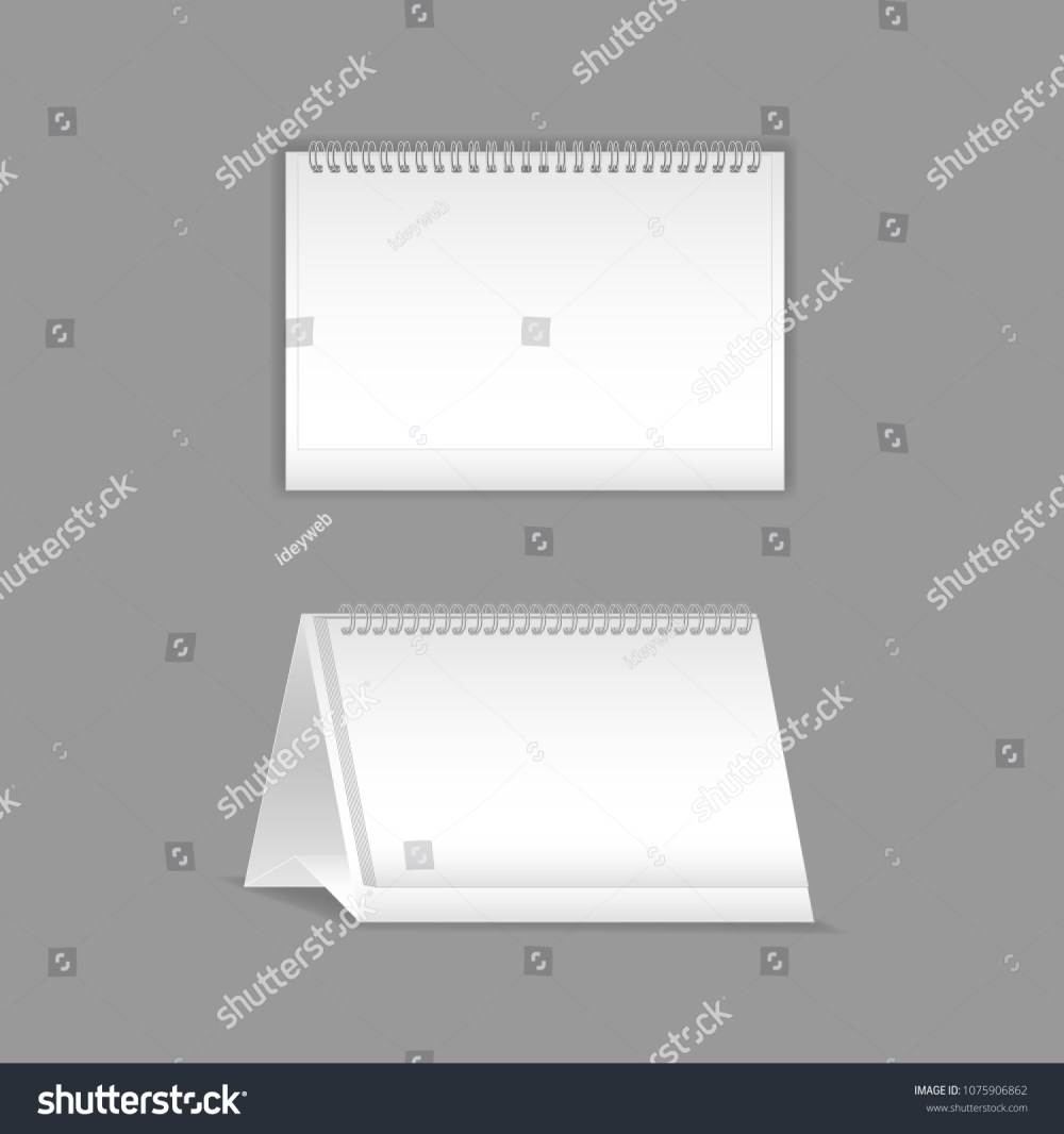medium resolution of template vector mock up blank table calendar layout realistic notebook organizer
