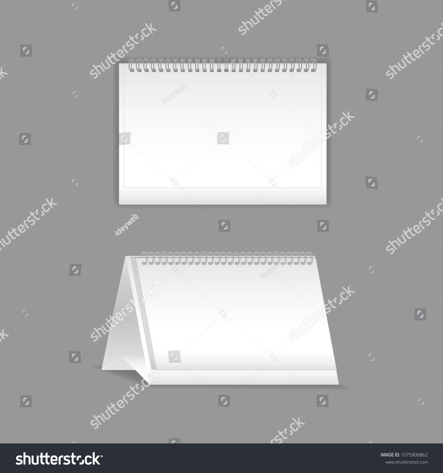 hight resolution of template vector mock up blank table calendar layout realistic notebook organizer