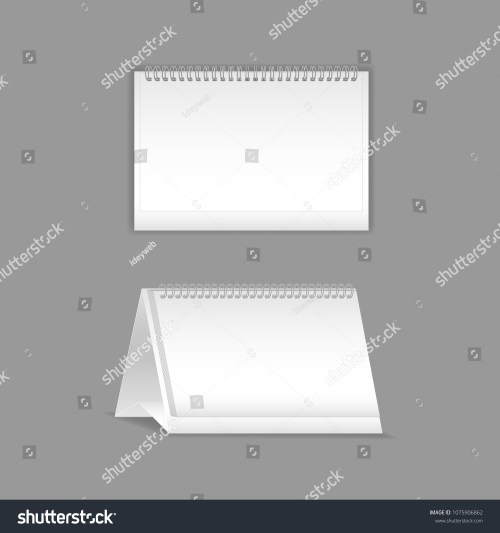 small resolution of template vector mock up blank table calendar layout realistic notebook organizer