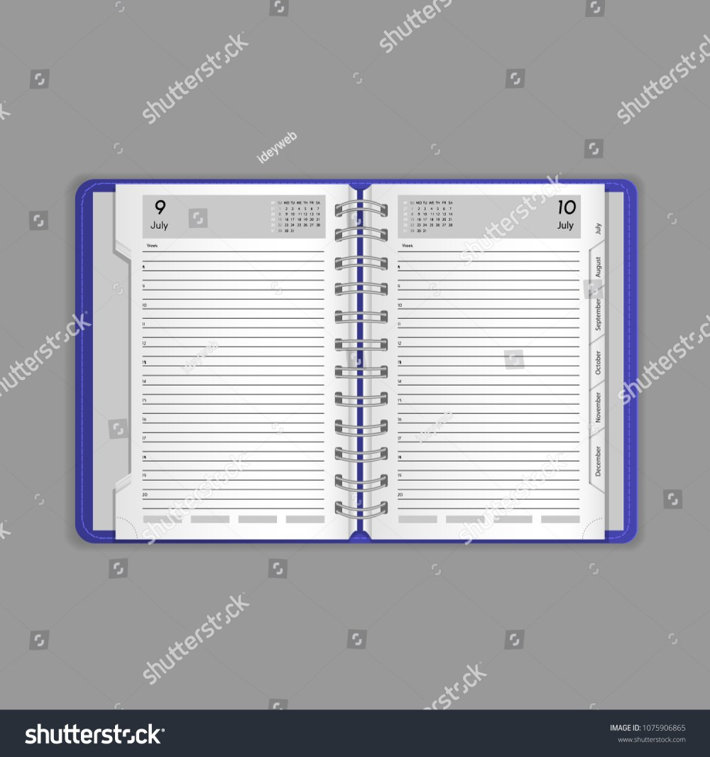 medium resolution of template vector mock up blank table calendar layout realistic open notepad diary