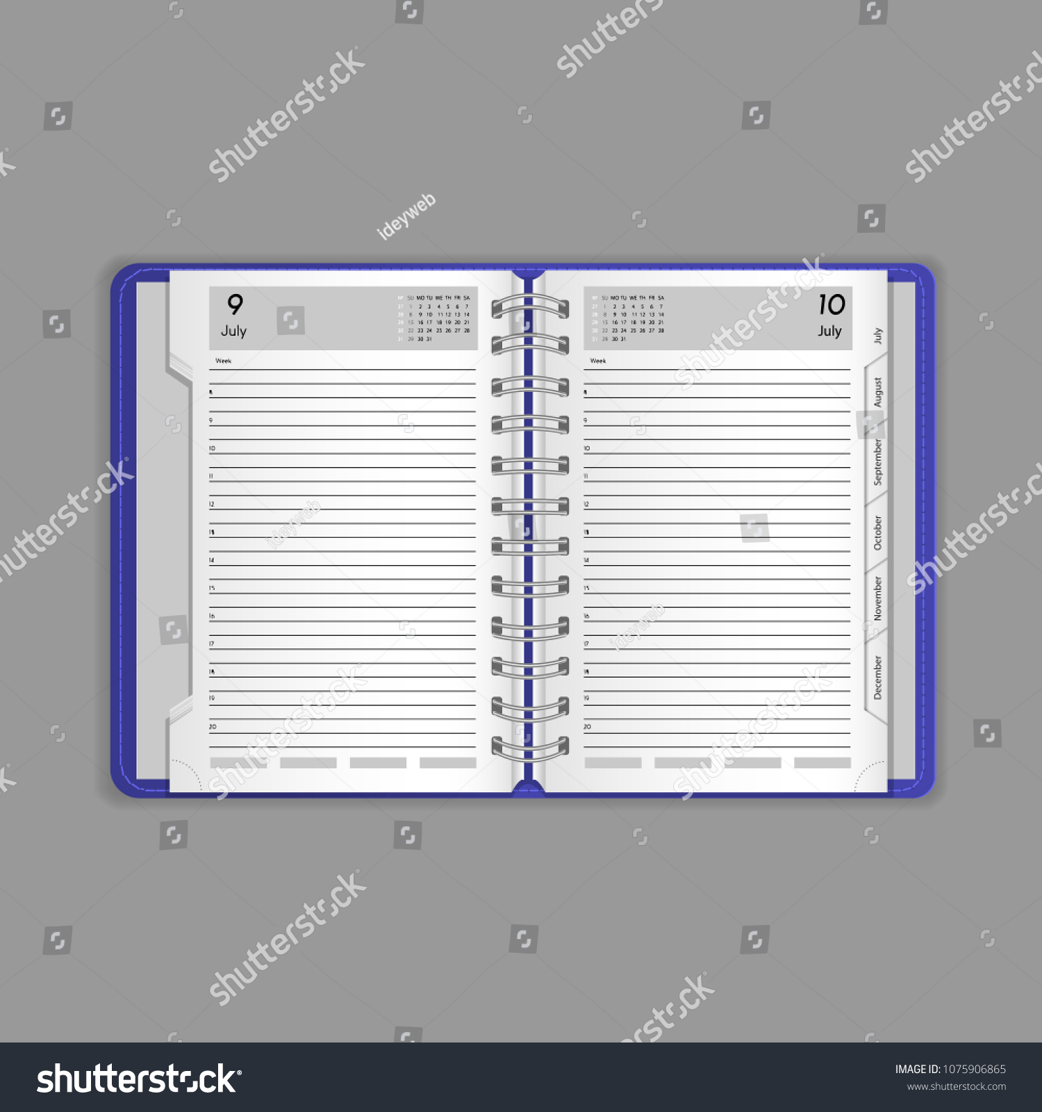 hight resolution of template vector mock up blank table calendar layout realistic open notepad diary