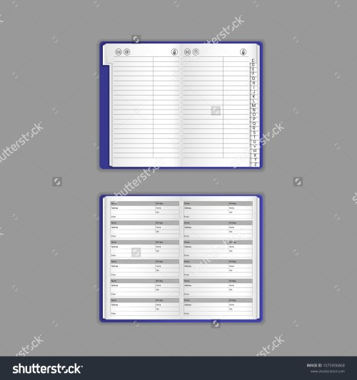 small resolution of template vector mock up blank table calendar layout realistic open notepad diary