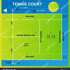 Measurement Of Tennis Court With Diagram Wiring For White Rodgers Thermostat Model 1f78 Yard Vector Stock 193136117