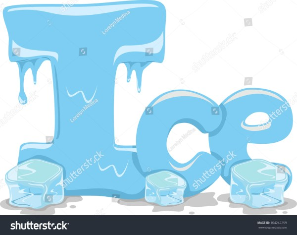 Text Illustration Featuring Word Ice Stock Vector