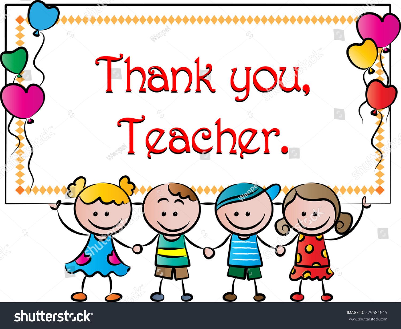 Thank You Teacher Stock Vector