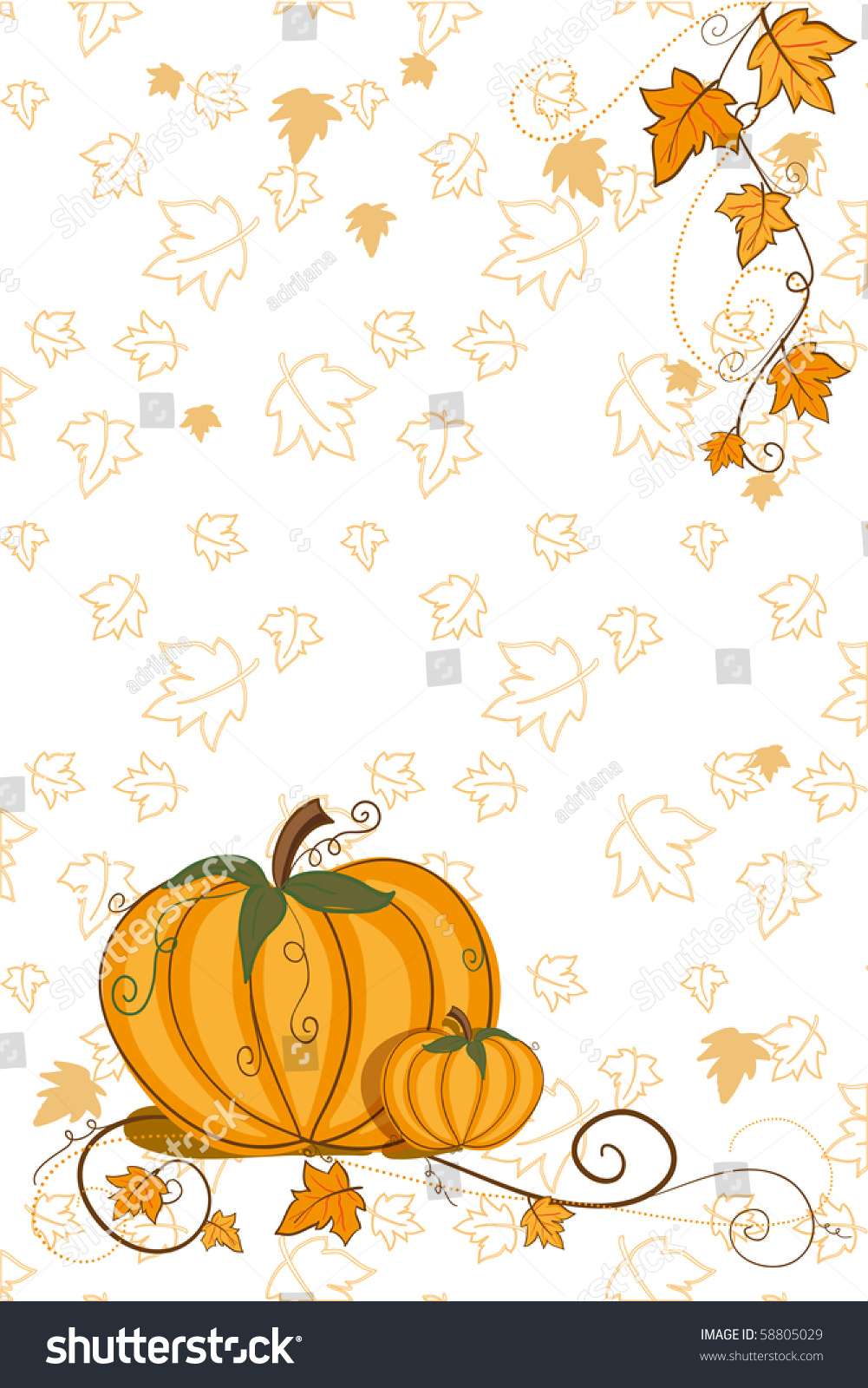 hight resolution of thanksgiving greeting card pumpkin