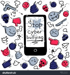 the concept of cyberbullying through the internet come unfriendly scornful messages problems in social [ 1500 x 1600 Pixel ]