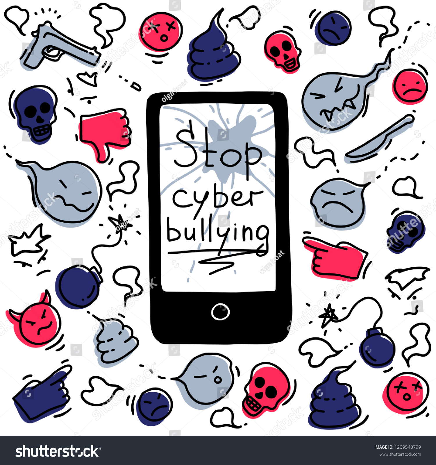 hight resolution of the concept of cyberbullying through the internet come unfriendly scornful messages problems in social