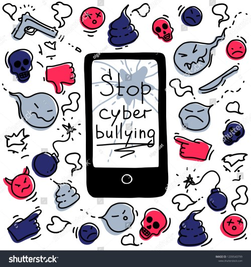 small resolution of the concept of cyberbullying through the internet come unfriendly scornful messages problems in social