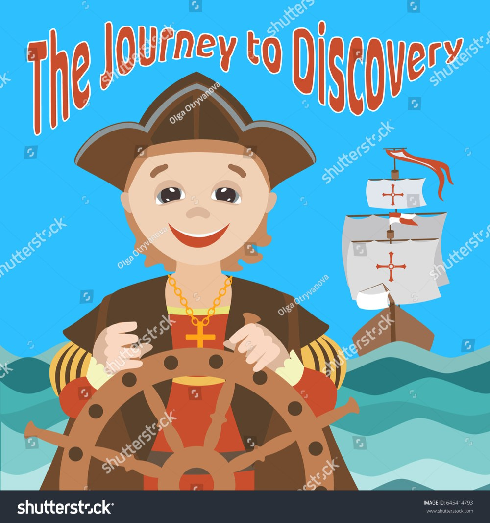 medium resolution of the journey of christopher columbus cartoon christopher columbus on a ship in the sea