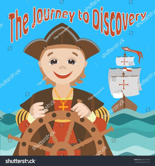 small resolution of the journey of christopher columbus cartoon christopher columbus on a ship in the sea