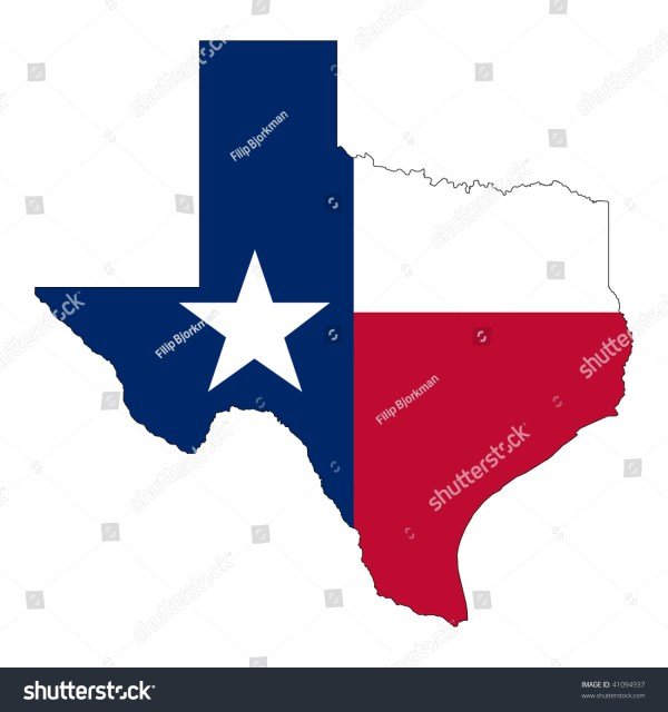 Shape Texas Flag Map Stock Vector 41094937