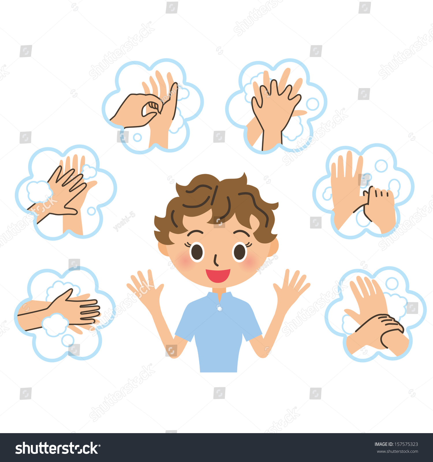 Clipart Hand Washing