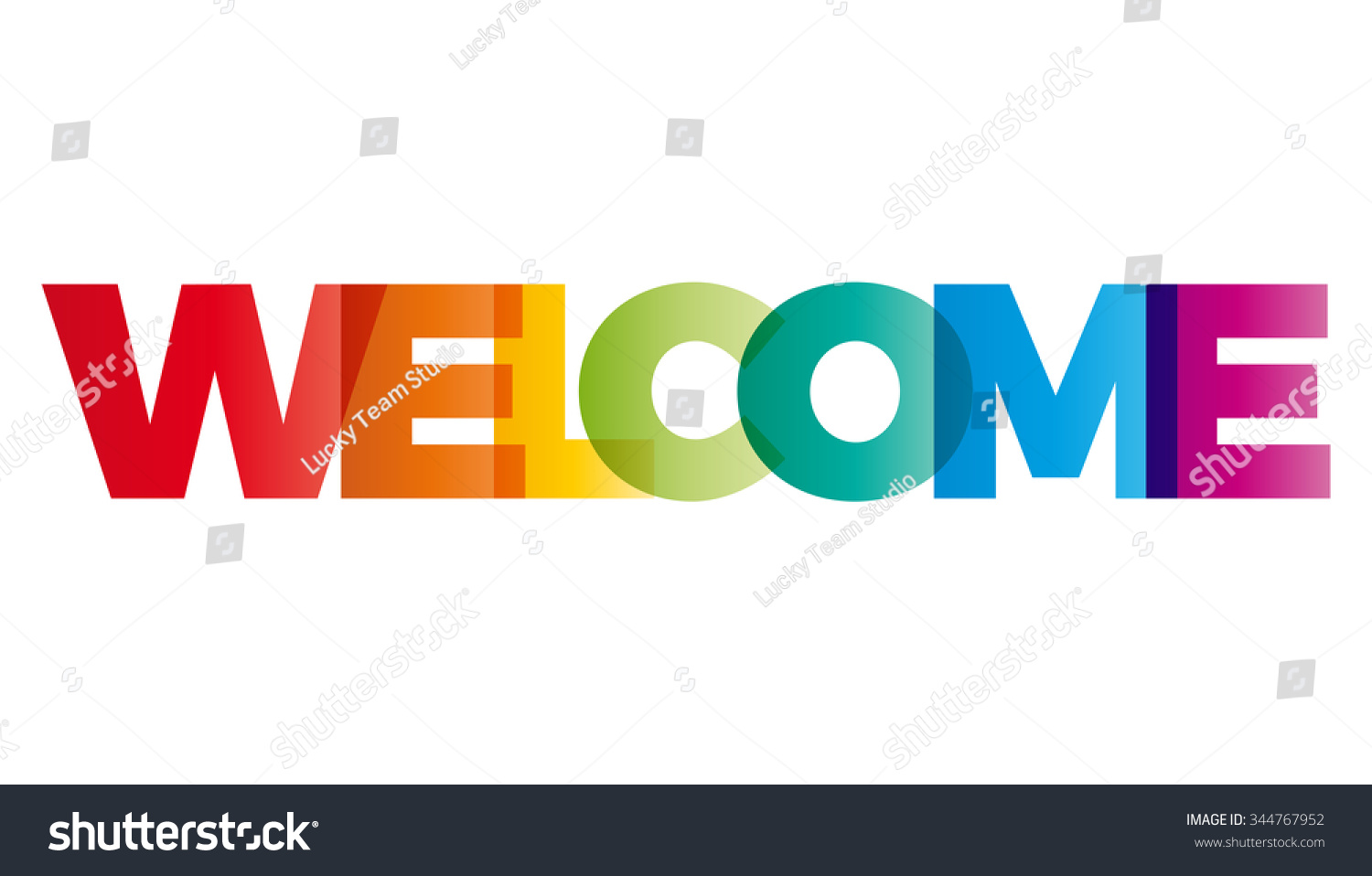 The Word Welcome Vector Banner With The Text Colored