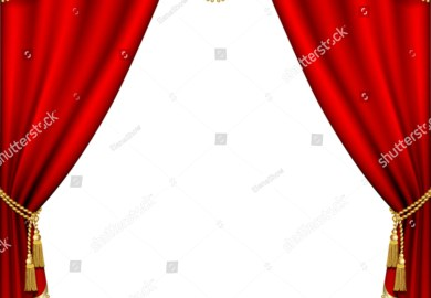 Black White Theater Curtains Stock Illustrations Vectors